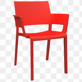 Table - Table Chair Plastic Armrest Line PNG
