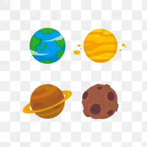Planet - Cartoon Space Extraterrestrial Life Illustration PNG