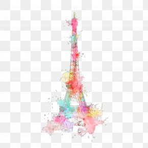 Eiffel Tower Drawing Watercolor Painting - Eiffel Tower Watercolor Painting Art PNG