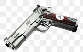 Silver Pistol - Kimber Manufacturing Pistol Firearm Weapon Wallpaper PNG