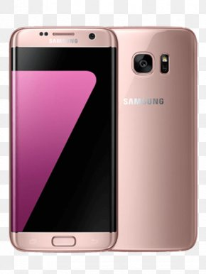 Samsung Galaxy S7 Edge - Android Telephone Samsung 4G Pink Gold PNG