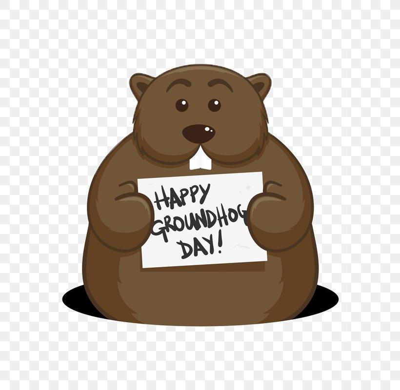 Happy Groundhog Day, PNG, 800x800px, Bear, Beaver, Carnivoran, Coloring Book, Groundhog Download Free
