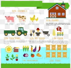 Creative Farm Infographic Vector Material - Farm Infographic Agriculture Livestock PNG
