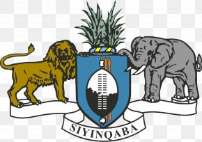 Shield - Coat Of Arms Of Swaziland Gallery Of Coats Of Arms Of Sovereign States Flag Of Swaziland PNG