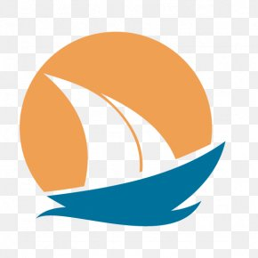 Sunset And Boat Flag - Logo Clip Art PNG