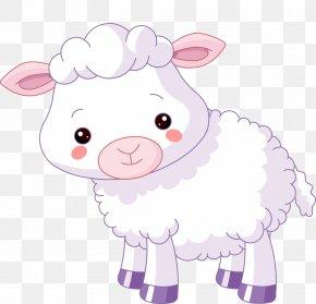 Mild Cartoon Sheep - Sheep Lamb And Mutton Cuteness Clip Art PNG