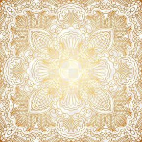 Pattern Shading - Wedding Invitation Gold PNG