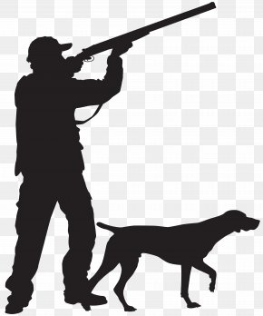 Hunter With Dog Silhouette Clip Art Image - Hunting Dog Silhouette Hunting Dog Clip Art PNG