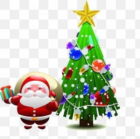 Christmas Tree Christmas Holiday Santa Creative People - Santa Claus Christmas Tree PNG