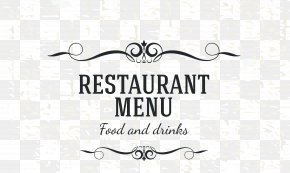Menu Cover Decorative Material - Cafe Menu Restaurant PNG