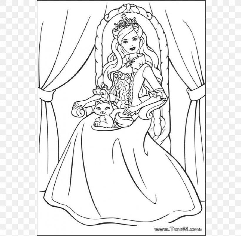 Barbie Disney Princess Coloring Book Child, PNG, 893x874px ...