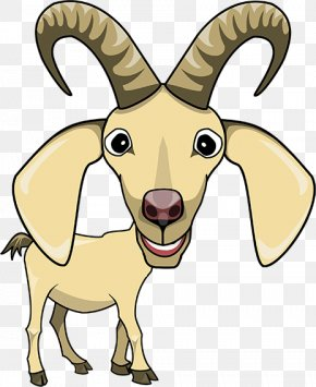 Cartoon Goat - Sheep Goat Cattle Horse Horn PNG