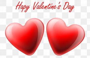 Happy Valentine's Day Hearts Transparent PNG Clip Art Image - Valentine's Day Heart Mother's Day Gift Clip Art PNG