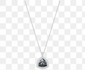 Swarovski Jewelry Necklace Black Women - Locket Necklace Chain Silver Jewellery PNG