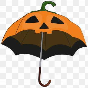 Halloween Pumpkin Umbrella Clip Art Image - Halloween Pumpkin Umbrella Candy Corn Clip Art PNG