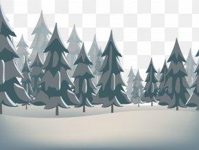 Winter Pine - Snow Winter Euclidean Vector Santa Claus PNG
