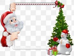 Christmas Frame Cliparts - Santa Claus Borders And Frames Christmas Picture Frames Clip Art PNG