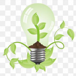 Green Energy - Environmental Protection Low-carbon Economy Energy Conservation Incandescent Light Bulb PNG