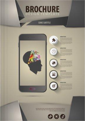 Vector Smartphone Leaflets Layout - Flyer Euclidean Vector Illustration PNG