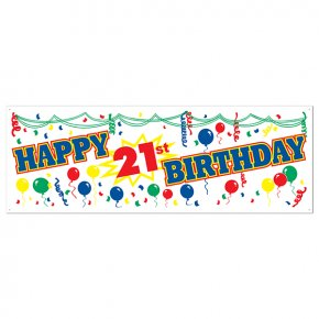 Happy 21st Birthday Pictures Free - Birthday Cake Banner Party Gift PNG