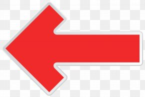 Arrow Red Left Transparent Clip Art Image - Line Area Angle Brand PNG