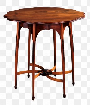 Table - Table Antique Furniture Chair PNG