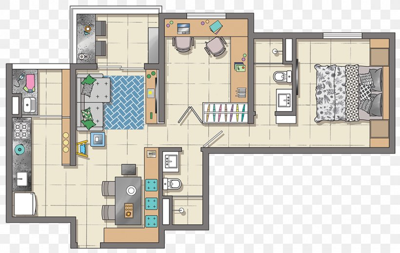 House Floor Plan Furniture Interior Design Services Apartment, PNG, 1000x633px, House, Apartment, Area, Designer, Elevation Download Free