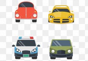 Four Car Front View - Car Automotive Design PNG