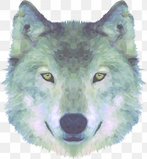 Low Poly Wolf - Alaskan Tundra Wolf Coyote T-shirt Greenland Dog Arctic Wolf PNG