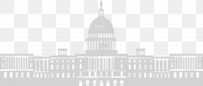 Building - White House Building Tax Reform Black And White PNG