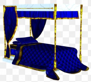 Blue Bed - Bed Blanket Mosquito Net PNG