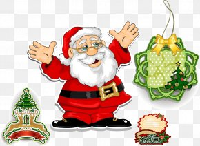 Santa Claus Christmas Element Vector Material - Santa Claus Christmas Decoration Garage Doors PNG