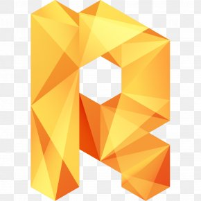 Orange Letter - Letter English Alphabet Typeface PNG