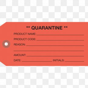 Quarantine - Label Paper Brand Quality Control PNG