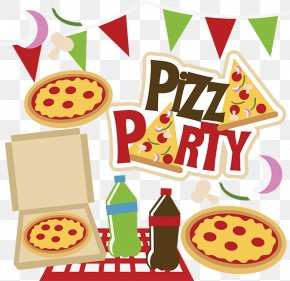 Pizza Night Cliparts - Pizza Party Sausage Pizza Box PNG