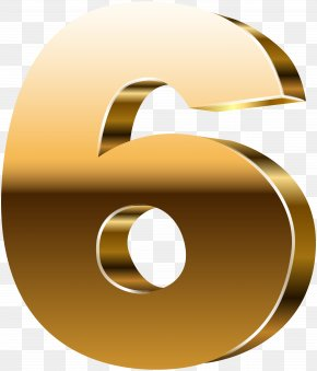 Number Six 3D Gold Clip Art Image - Image File Formats Lossless Compression PNG
