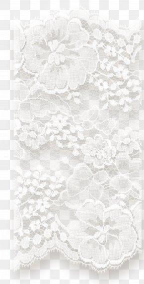 Monochrome Photography Textile White Lace PNG