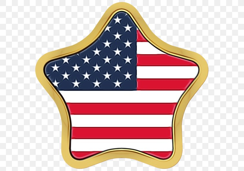 Flag Of The United States Flag Clip Art, PNG, 600x574px, Watercolor, Flag, Flag Of The United States, Paint, Wet Ink Download Free