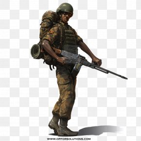 Army - Uganda Soldier Military Army Infantry PNG
