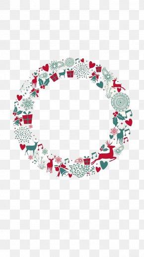 Christmas Wreaths - Christmas Decoration Circle Illustration PNG