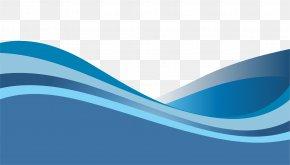 Vector Blue Gradient Dynamic Wave Pattern - Brand Blue Wallpaper PNG
