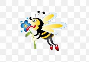 Bee - Honey Bee Cartoon Clip Art PNG