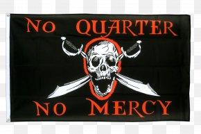 Flag - Jolly Roger Flag No Quarter Piracy Fahne PNG