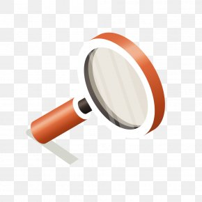 Vector Red Magnifying Glass - Magnifying Glass PNG