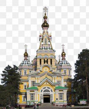 Ascension Cathedral - Ascension Cathedral, Almaty Park Of 28 Panfilov Guardsmen Russian Orthodox Church PNG