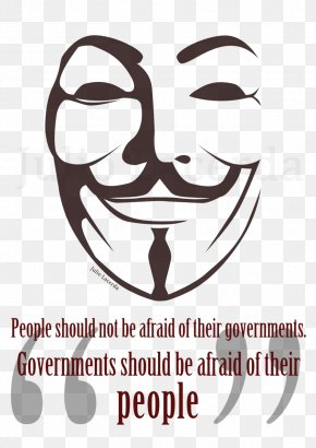 Anonymous Mask - V For Vendetta Guy Fawkes Mask Stencil PNG