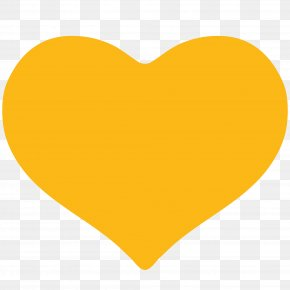 Yellow Heart Clipart - Yellow Heart Font PNG