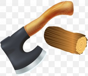 Ax And Firewood - Axe Clip Art PNG