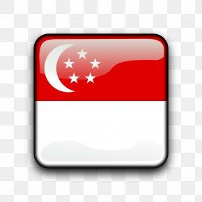 SINGAPORE - Flag Of Singapore Lion Head Symbol Of Singapore Clip Art PNG