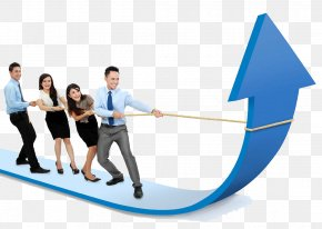 Business People With Arrow - Sales Management Sales Management Business Development PNG